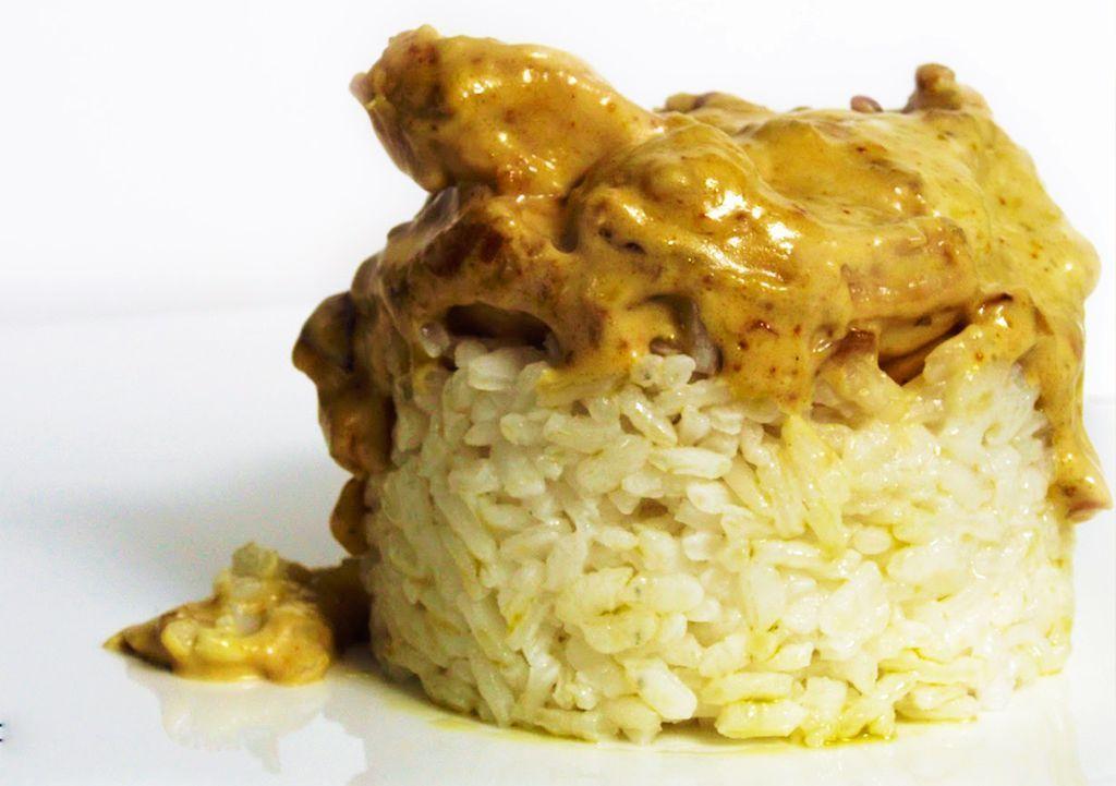 arroz con soja y pollo comeme