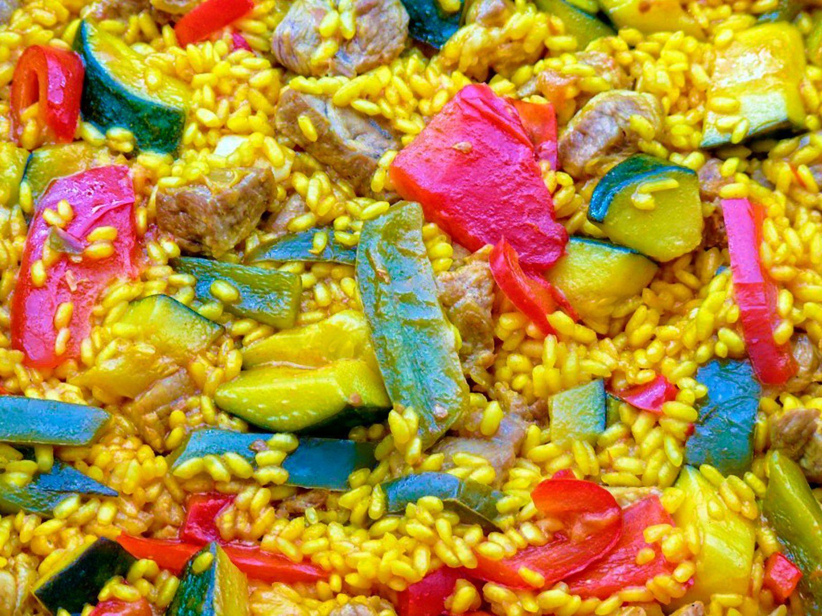 paella de verduras comeme
