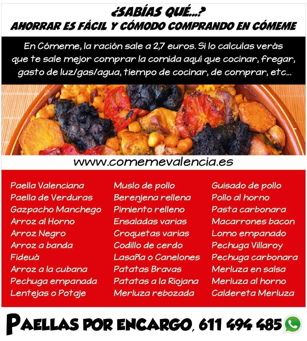 menu comidas caseras valencia-comeme